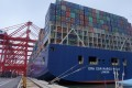 Ultra-large ships that would earlier bypass Sri Lanka's shallow ports now come calling thanks to the new terminal built by a Chinese company. Photo: SCMP Pictures