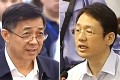 Jailed former Chongqing Communist Party boss, Bo Xillai, left, and Xu Ming. Photo: SCMP Pictures