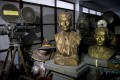Exhibits in a storeroom at the Myanmar Motion Picture Museum, in Yangon. Photos: Scott Howes