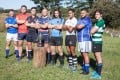 Captains from the eight national junior teams taking part in the 2016 World Rugby U20 Trophy get ready for the kick-off in Zimbabwe. Photo: World Rugby