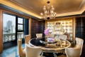 The Michael Jackson Mansion at Sofitel Macau is decorated in opulent gold and black.