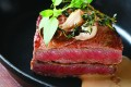 Portuguese-style pan-fried US beef sirloin with coffee sauce from MEZZA9 restaurant, 3/F, Grand Hyatt Macau.