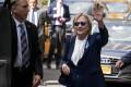 Hillary Clinton leaves an apartment in New York City. Photo: AP Photo/Craig Ruttle