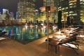 The Four Seasons pool: Serenity on the sixth floor.