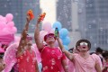 Pink Dot supporters. Wear pink! Photo: SCMP
