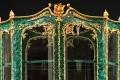 JOSEPH-EMMANUEL ZWIENER (1849-1900) Universal Exhibition 1878 in Paris A malachite Display Cabinet Ornamentation of sculpted, chiseled and gilt bronze. H 260; W 140 cm.  (H 102,5; W 55 in.) Provenance: Comte de Montaigne de Poncins