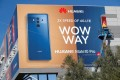 A Huawei ad in Las Vegas, Nevada on January 5, 2018. (Picture: Reuters)