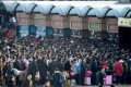 Crowds gather at a train station in Beijing -- one of the few places in China where electronic boarding is available -- two weeks before Lunar New Year 2018. Imagine what it was like elsewhere in the country. (Picture: Kyodo)