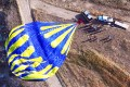 The balloon lies on the ground after the emergency landing in which nine other tourists were injured, one seriously. Photos: SCMP