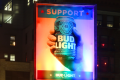 In addition to the television spot, Bud Light has also put up two rainbow-lit billboards in New York and Los Angeles: Photo: Bud Light