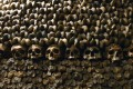 The Catacombs of Paris are lined with skulls and bones stacked and arranged. Photo: AFP
