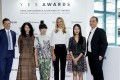 The Y.E.S. Awards international judging panel (from left) president of yoox.com Luca Martines, style blogger Susie Bubble, Eco Chic founder Christina Dean, stylist Grace Lam, and Francesco Tombolini, deputy chief operating officer of Yoox Group.
