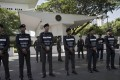 Arrest warrants have been issued for 17 people in connection with the attack, Thai police say. Photo: AFP