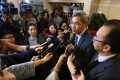 Raymond Lai of the Aided Primary School Heads Association speaking to media last Thursday. Photo: Nora Tam