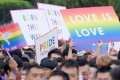 Taiwanese people join Taipei's annual gay rights parade. Photo: AFP