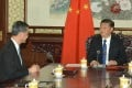 CY Leung (left) briefs President Xi Jinping (right) on the latest economic, social and political developments in Hong Kong. Photo: SCMP Pictures