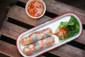 Cuon - vegetable, prawn and pork rice paper rolls – at Com Bánh Mì.
