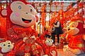 Monkey dolls and decorations for the Year of Monkey are already being snapped up as people prepare for the Chinese Year of Monkey on Feb. 8 this year. Photo: Xinhua