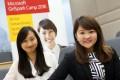 2015 Microsoft GirlSpark alumni Connie Chu (left) with Yody Chiu Mei-ka, one of this year's participants. Photo: Felix Wong