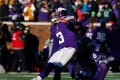 Blair Walsh of the Minnesota Vikings misses an agonising 27-yard field goal at the death to hand the win to Seattle. Photo: AFP