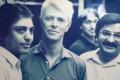 (L-R) Manu Melwani, David Bowie and Sham Melwani in a photo hanging at Sam's Tailors in Tsim Sha Tsui. Photo: Jonathan Wong