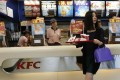 A file photo of a customer inside a KFC restaurant in Beijing. Photo: Reuters