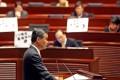 Hong Kong Chief Executive Leung Chun-ying announced his policy address at the Legislative Council Chamber in Tamar yesterday. Photo: David Wong