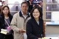 The favourite to win the presidential election, opposition candidate Tsai Ing-wen, casts her vote. Photo: Reuters