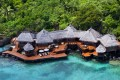 Laucala Island, a 12-square-kilometre private island in the Fiji archipelago, claims to have the highest staff-to-guest ratio in the world, with more than 350 staff taking care of the 25 villas.