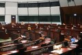The Legco chamber was too empty to carry on with debates on Friday Photo: David Wong