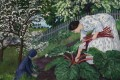 A detail from Nikolai Astrup's painting Rhubarb, from 1911, one of the works being shown in London. Photo: Dag Fosse/KODE