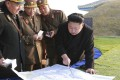 North Korean leader Kim Jong-un (centre). Imagery collected over the past several days suggested the launch from the western Dongchang-ri site could come in about a week. Photo: Reuters