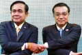 Thai Prime Minister Prayuth Chan-ocha (left) with Premier Li Keqiang. Photo: Reuters