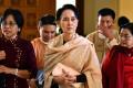 National League for Democracy (NLD) party leader Aung San Suu Kyi. Photo: AP
