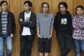 The five directors of the flim Ten Years (from left): Chow Kwun-wai, Ng Ka-leung, Kwok Zune, Wong Fei-pang and Jevons Au Man-kit. Photo: Nora Tam