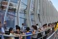 Customers queue to enter the duty-free shop in Sanya, southern China's Hainan province. Photo: Xinhua