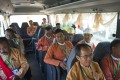 Newly-elected National League of Democracy (NLD) members of parliament en route to Naypyidaw. Photo: AFP