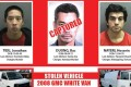 This 'wanted' poster provided by the Orange County Sheriff's Office shows that they have captured one of three violent inmates who broke out of a high security jail. The other two escapees were caught on Saturday after an intense manhunt. Photo: AP