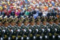Soldiers of China's People's Liberation Army in a march-by during a military parade. Photo: Reuters
