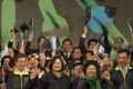 The US fears the election victory of Taiwan opposition leader and president-elect Tsai Ing-wen (above centre) could heighten tensions between mainland China and the island, which Beijing claims as its own territory. Photo: AP