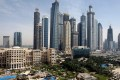 A file picture shows a view of luxury hotels and skyscrapers at the Dubai Marina in Dubai, United Arab Emirates. A debt restructuring for Dubai-based developer Limitless is closer after Silver Point Capital sold its share of debt. Photo: EPA