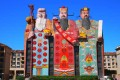 Tianzi Hotel in Sanhe, Hebei province, features the Chinese gods of fortune, prosperity and longevity.