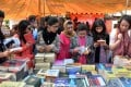 Pakistani women browse books at the Lahore Literary Festival. Photos: Ahmed Riaz