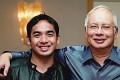Norashman Najib with his father, Najib Razak, the Malaysian prime minister. A top international DJ was asked to make way for Norashman at Singapore nightclub Zouk but refused.