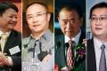China's biggest givers: (from left) Hong Qi, Tang Lixin, Wang Jianlin and Pony Ma Huateng. Photos: SCMP Pictures