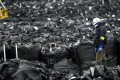 Bags containing waste materials generated during decontamination works in the northeastern Japan town of Tomioka, adjacent to the crippled Fukushima Daiichi nuclear plant. Photo: Kyodo