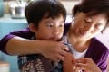 A child receives measles vaccine at a vaccination site in Yinchuan, in Ningxia Hui Autonomous Region. Photo: Reuters