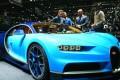 The new Bugatti Chiron on display at the 86th Geneva International Motor Show in Geneva. Photo: EPA
