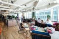 WeWork's co-working space in Times Square, New York rents desks for US$625 a month. Photo: Company