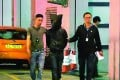 One of the five suspects is was escorted to Tsuen Wan police station at about 1am on Thursday. Photo: SCMP Pictures